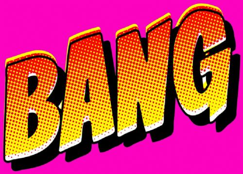 ART - POP ART - BANG PINK canvas print - self adhesive poster - photo print